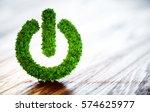 green power button. clean... | Shutterstock . vector #574625977