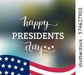 vector presidents day card.... | Shutterstock .eps vector #574627903