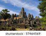 Angkor Thom With Blue Sky