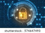 technology security concept.... | Shutterstock .eps vector #574647493
