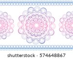 indian floral paisley medallion ...   Shutterstock .eps vector #574648867