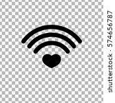heart wifi icon  wi fi symbol...