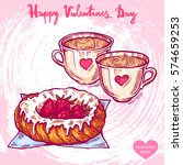 vector hand drawn illustration... | Shutterstock .eps vector #574659253
