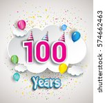 100th anniversary celebration...   Shutterstock .eps vector #574662463
