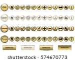 set of 56 buttons | Shutterstock .eps vector #574670773