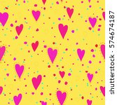 abstract love pattern.... | Shutterstock .eps vector #574674187