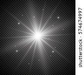 white glowing light burst... | Shutterstock .eps vector #574674997