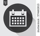 simple flat icon of calendar.... | Shutterstock .eps vector #574681813