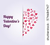 happy valentine's day ... | Shutterstock .eps vector #574684747