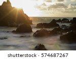 sunset sea | Shutterstock . vector #574687267