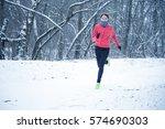 Running Sport Woman. Female...