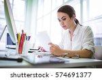 serious graphic designer...   Shutterstock . vector #574691377