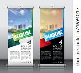 roll up brochure flyer banner... | Shutterstock .eps vector #574694017