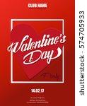flyer  banner or pamphlet for... | Shutterstock .eps vector #574705933