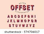 offset typography vector | Shutterstock .eps vector #574706017