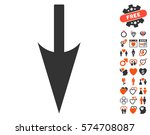 sharp down arrow pictograph... | Shutterstock .eps vector #574708087