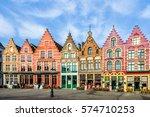 bruges  belgium   january 27 ... | Shutterstock . vector #574710253