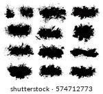 grunge paint vector. painted... | Shutterstock .eps vector #574712773
