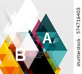 vector triangle compostiion... | Shutterstock .eps vector #574716403