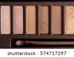 colorful eye shadow palette... | Shutterstock . vector #574717297