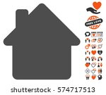 house icon with bonus love... | Shutterstock .eps vector #574717513