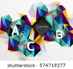 mosaic low poly abstract... | Shutterstock .eps vector #574719277