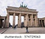 berlin  germany   january 19 ... | Shutterstock . vector #574729063