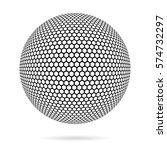 wireframe 3d mesh polygonal... | Shutterstock .eps vector #574732297