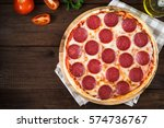 Italian Pepperoni Pizza With...