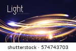 abstract motion light effect.... | Shutterstock .eps vector #574743703