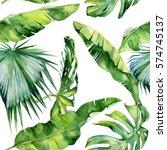 seamless watercolor... | Shutterstock . vector #574745137