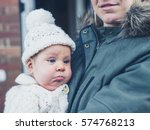 a young mother and baby in... | Shutterstock . vector #574768213
