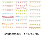 set of multicolored flat... | Shutterstock .eps vector #574768783