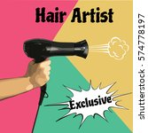 vector illustration of a hair... | Shutterstock .eps vector #574778197