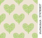 seamless pattern trees heart | Shutterstock .eps vector #574780837