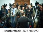 press conference. public... | Shutterstock . vector #574788997