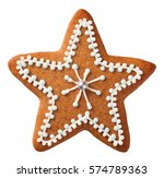 gingerbread cookie isolated on... | Shutterstock . vector #574789363
