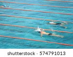 Healthy Young Men Swimming In ...