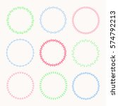 collection of vector graphic... | Shutterstock .eps vector #574792213