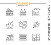 set of editable stroke vector... | Shutterstock .eps vector #574792477