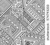 unique geometric vector... | Shutterstock .eps vector #574793203