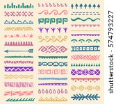 collection of hand drawn... | Shutterstock .eps vector #574793227
