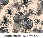 beautiful seamless vector... | Shutterstock .eps vector #574794577