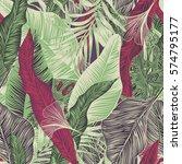 vector  seamless  tropical ... | Shutterstock .eps vector #574795177