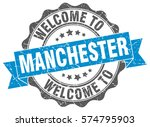 manchester. welcome to... | Shutterstock .eps vector #574795903