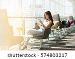 businesswoman on break. or... | Shutterstock . vector #574803217