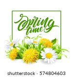 inscription spring time on... | Shutterstock .eps vector #574804603
