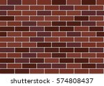 red brick wall background.... | Shutterstock .eps vector #574808437