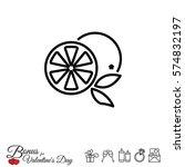 web line icon. orange | Shutterstock .eps vector #574832197