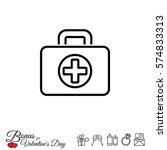 web line icon. medical case. | Shutterstock .eps vector #574833313